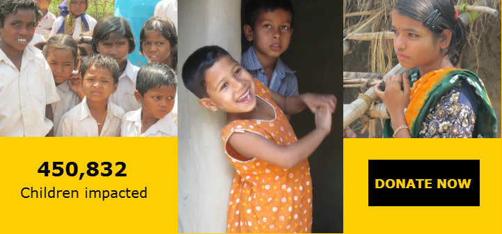 450,832 Children impacted. Donate Now