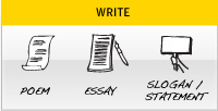 Write - Poem, Essay, Slogan/Statement