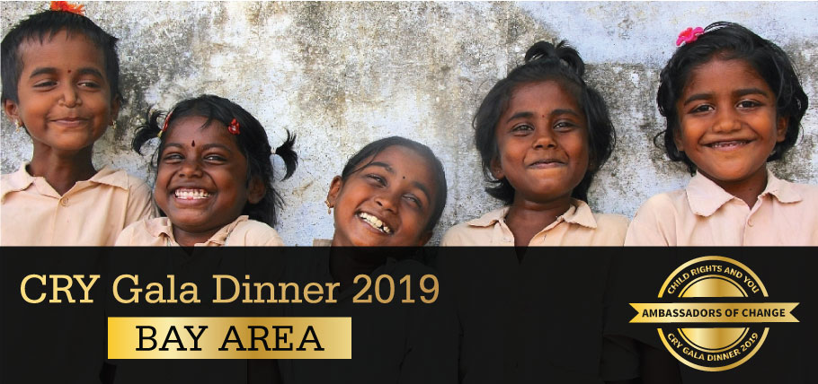 CRY Gala Dinner at Bay Area on Saturday, May 04, 2019