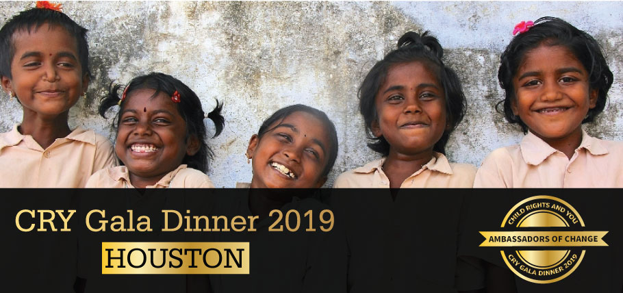 CRY Gala Dinner at Houston on Sunday, March 03, 2019