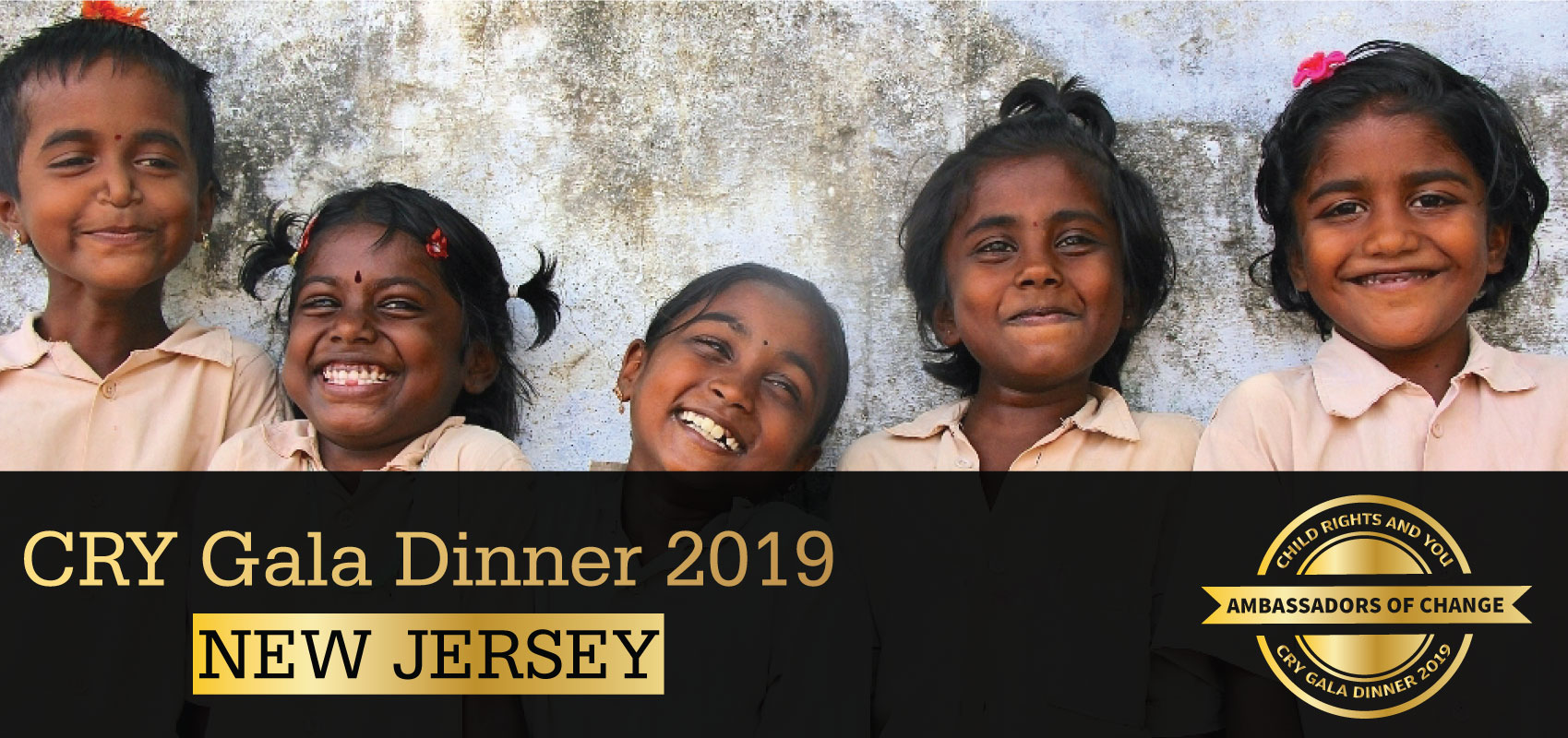 CRY Gala Dinner at New Jersey on Friday, March 16, 2019